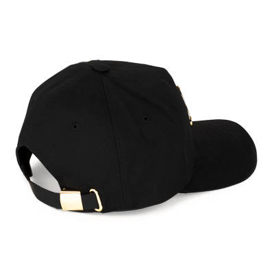 Moose Knuckles – Gold Logo Icon Hat – Black/Gold