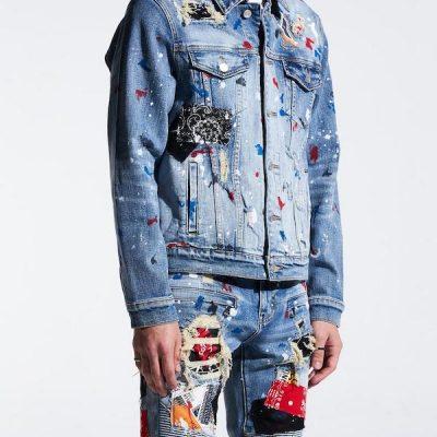 Embellish NYC – Rebel Denim Jacket – Blue