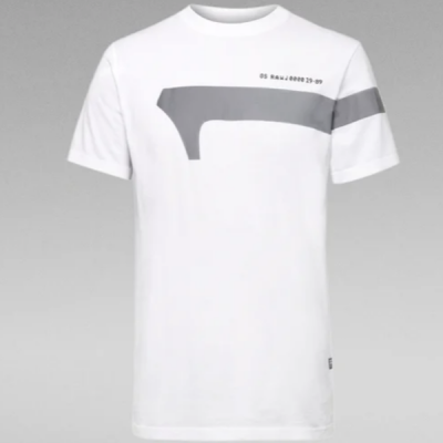 G Star RAW – 1 Reflective Tee – White