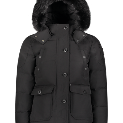 Moose Knuckles – Anguille Parka – Black w/ Black fur