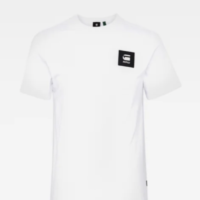 G Star RAW – Badge Logo Tee – White