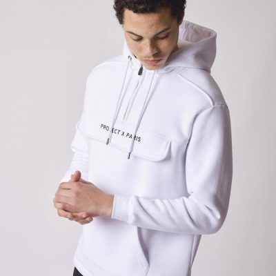 Project X Paris – Basic Over sized Hoodie – White