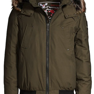 Moose Knuckles – Brookside Bomber – Army w/ Viking fur