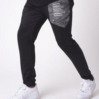 Project X Paris – Camo Reflective Yoke Pants – Black