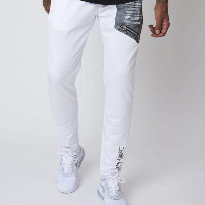 Project X Paris – Camo Reflective Yoke Pants – White