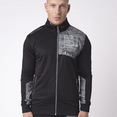 Project X Paris – Reflective Yoke zip up – Black