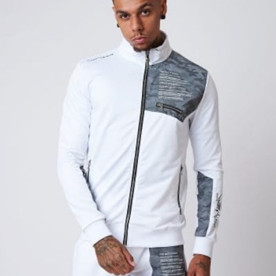 Project X Paris – Reflective Yoke zip up – White