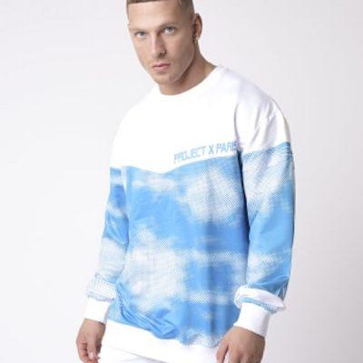 Project X Paris – Cloud Print Crewneck – Blue/White