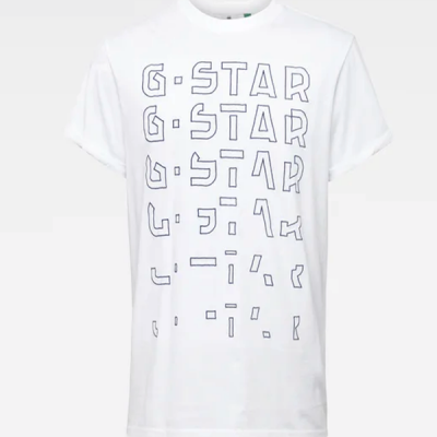 G Star RAW – Embro Graphic Tee – White