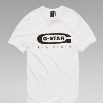 G Star RAW – Graphic Tee – White
