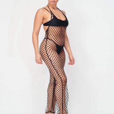 HD – Fish net coveralls – Black