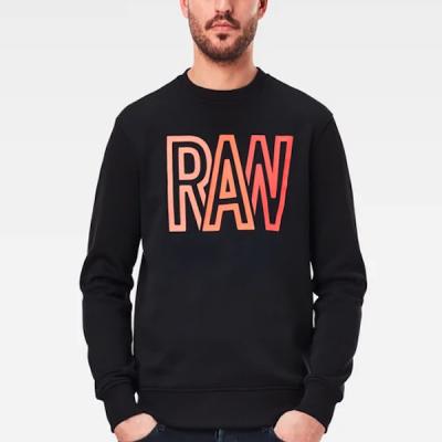 G-Star RAW – Raw R LS Crewneck – Black