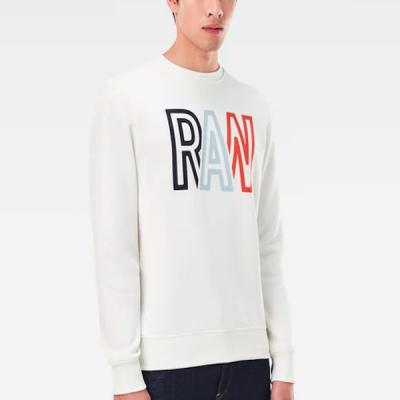 G-Star RAW – Raw R LS Crewneck – White