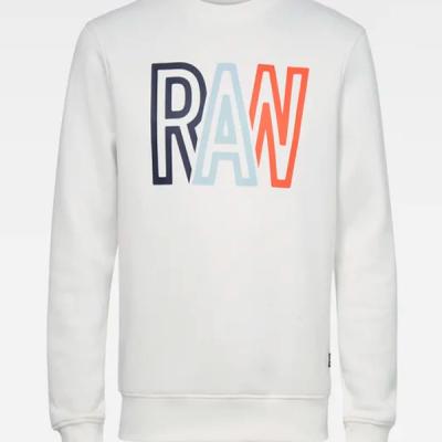 G-Star RAW – Raw R LS Crewneck – White