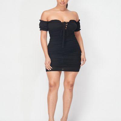 HD – Ruffle Dress -Black