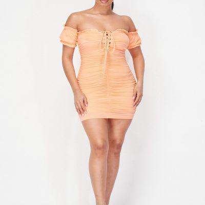 HD – Ruffle Dress -Orange