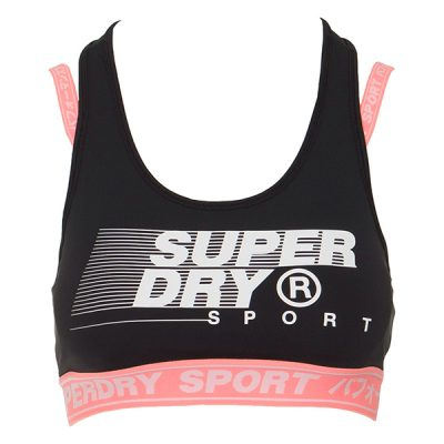 Superdry – Training Graphic Padded Bra – Coral