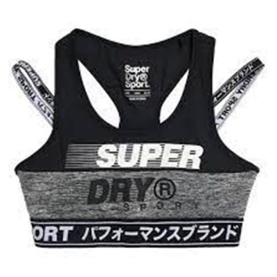 Superdry – Training Graphic Padded Bra – Grey