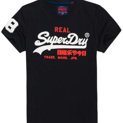 Superdry – Vintage Logo Tee – Navy