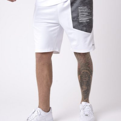 Project X Paris – Reflective Yoke Shorts – White
