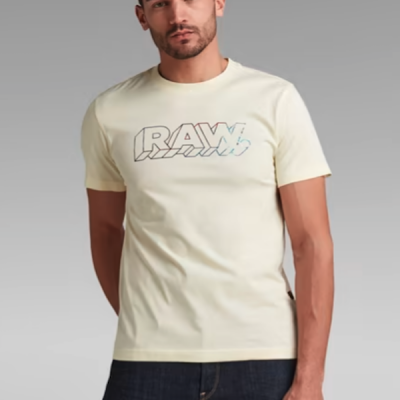 G Star RAW –  3D Raw Tee – Canary Yellow
