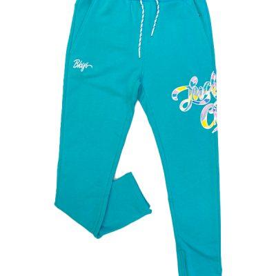 BKYS – Big Lucky Paint Sweatpants – Aqua