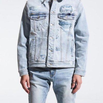 Embellish NYC – Cirrus Denim Jacket – Light Blue