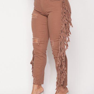 HD – Fringe Jeans – Mocha