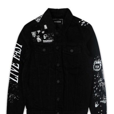 Reason – Diane Denim Jacket – Black