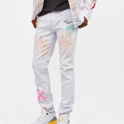 Reason – Rider Jeans – White