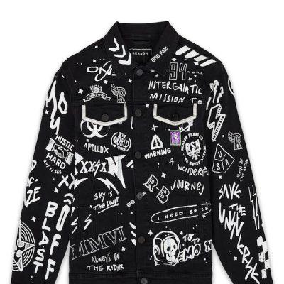 Reason – Space Denim Jacket – Black