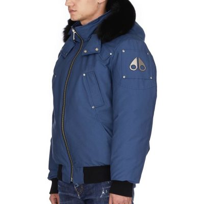 Moose Knuckles – Ballistic Bomber – Galaxy Blue w/ Black fox Fur