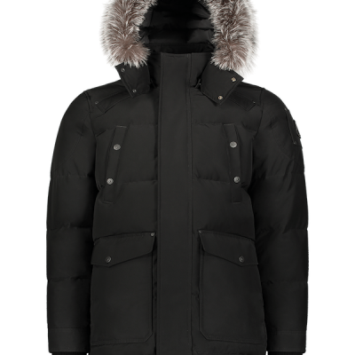 Moose Knuckles – Big Ridge – Black w/ Silver fox fur