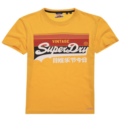 Superdry – Cali Stripe Tee – Yellow