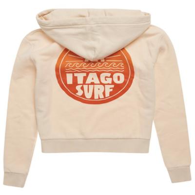 Superdry – Cali Surf Crop Hoodie – Cream