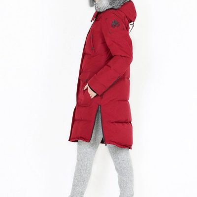 Moose Knuckles – Causapcal Parka – Red w/ silver fox fur