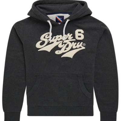 Superdry – Chenille Hoodie – Grey