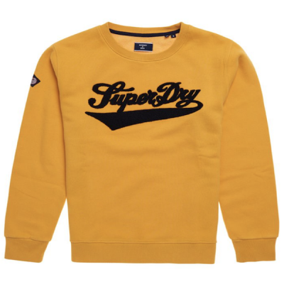 Superdry – College Chenille Crew – Yellow