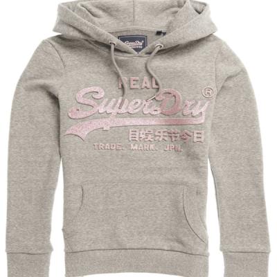 Superdry – Glitter Hoodie – Grey