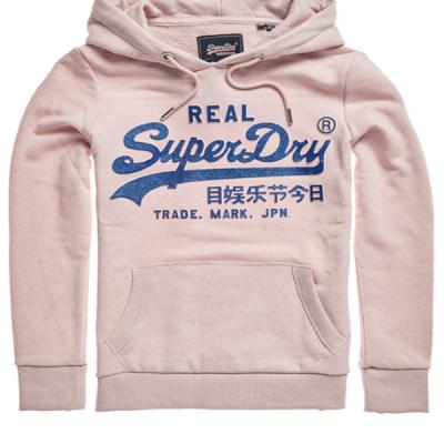 Superdry – Glitter Hoodie – Pink