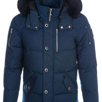 Moose Knuckles – Mens 3q – Galaxy Blue w/ Black fox fur
