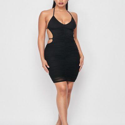 HD – Open back dress – Black