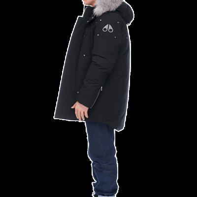 Moose Knuckles – Mens Stirling Parka – Black w/ Frost Fox Fur