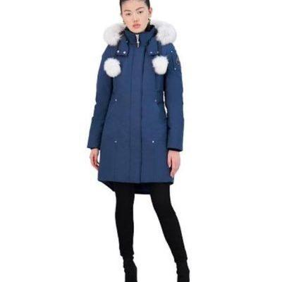 Moose Knuckles – Ladies Stirling Parka – Galaxy Blue w/ Natural fox fur