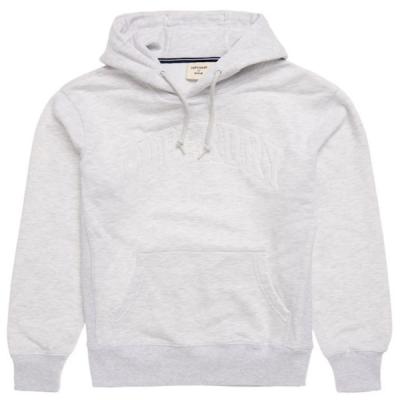 Superdry – Varsity Arch Hoodie – Ice Grey