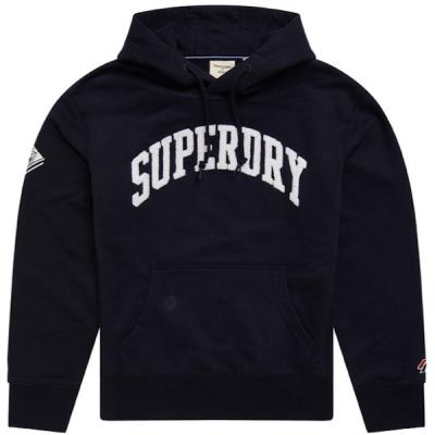 Superdry – Varsity Arch Hoodie – Navy