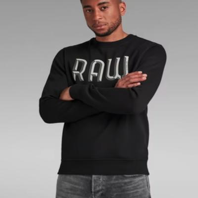 G Star RAW – 3D Raw R Sweater – Black