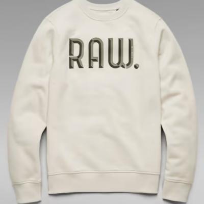 G Star RAW – 3D Raw R Sweater – White