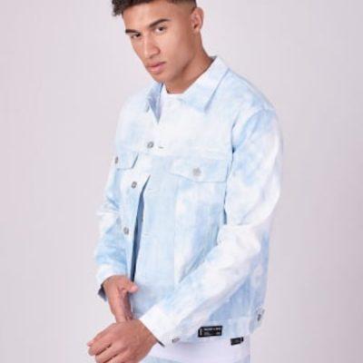 Project X Paris – Tie Dye Denim Jacket – Blue