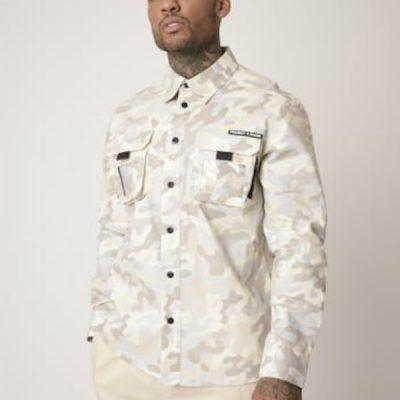 Project X Paris – Camo Over Shirt – Ivory